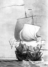 An East India Company ship c.1700